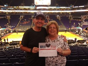 Richard attended Phoenix Mercury vs. Chicago Sky - WNBA on Jul 25th 2018 via VetTix