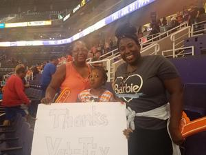 Leilani attended Phoenix Mercury vs. Chicago Sky - WNBA on Jul 25th 2018 via VetTix
