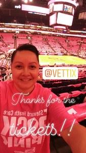 Lisa attended Phoenix Mercury vs. Indiana Fever - WNBA on Aug 10th 2018 via VetTix