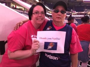 Leilani attended Phoenix Mercury vs. Indiana Fever - WNBA on Aug 10th 2018 via VetTix