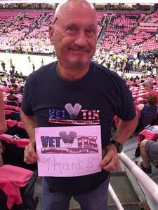 Larry attended Phoenix Mercury vs. Indiana Fever - WNBA on Aug 10th 2018 via VetTix
