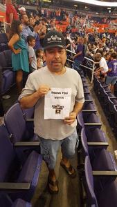 Jesus attended Phoenix Mercury vs. Indiana Fever - WNBA on Aug 10th 2018 via VetTix