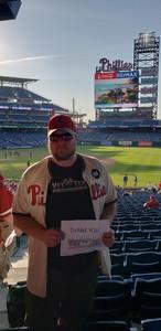 Wayne attended Philadelphia Phillies vs. Toronto Blue Jays - MLB on May 25th 2018 via VetTix
