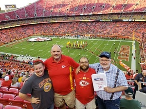 Tom attended Kansas City Chiefs vs. Green Bay Packers - NFL Preseason on Aug 30th 2018 via VetTix