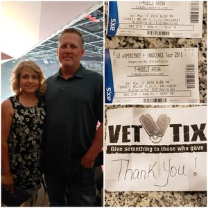 James attended U2 Experience + Innocence Tour on May 12th 2018 via VetTix