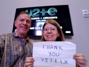 Carl attended U2 Experience + Innocence Tour on May 12th 2018 via VetTix