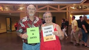Jay attended Daryl Hall and John Oates With Train on May 16th 2018 via VetTix