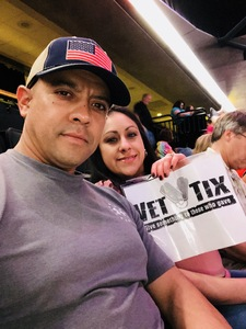 Master Sergeant Carlos Carrasco attended Daryl Hall and John Oates With Train on May 16th 2018 via VetTix