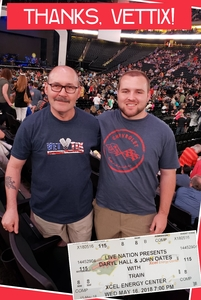 Roy attended Daryl Hall and John Oates With Train on May 16th 2018 via VetTix