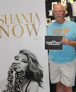 Everett attended Shania Twain Now Tour on May 16th 2018 via VetTix