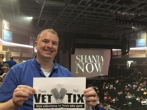 Shawn attended Shania Twain Now Tour on May 16th 2018 via VetTix