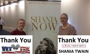 Jonathan attended Shania Twain Now Tour on May 16th 2018 via VetTix