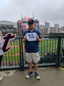 David  V attended Detroit Tigers vs. Cleveland Indians - MLB on Jun 10th 2018 via VetTix