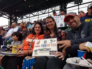 LORI attended Detroit Tigers vs. Cleveland Indians - MLB on Jun 10th 2018 via VetTix