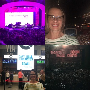 Erin attended Daryl Hall & John Oates and Train on May 20th 2018 via VetTix