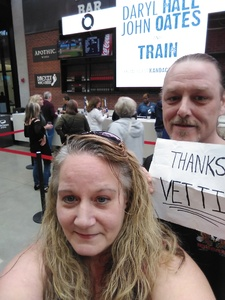 Traci attended Daryl Hall & John Oates and Train on May 20th 2018 via VetTix