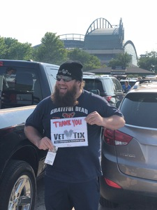 Jeremy attended Milwaukee Brewers vs. Philadelphia Phillies - MLB on Jun 15th 2018 via VetTix