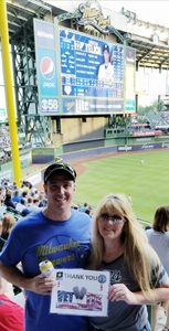 Michael Feller attended Milwaukee Brewers vs. Philadelphia Phillies - MLB on Jun 15th 2018 via VetTix