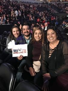 Juan attended Luis Miguel Live at the Pepsi Center on May 20th 2018 via VetTix