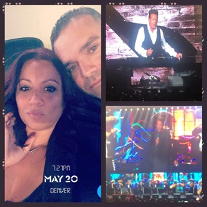 Teddy attended Luis Miguel Live at the Pepsi Center on May 20th 2018 via VetTix