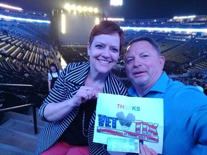 Ed attended Luis Miguel Live at the Pepsi Center on May 20th 2018 via VetTix