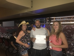 Justin attended Sugarland on May 31st 2018 via VetTix