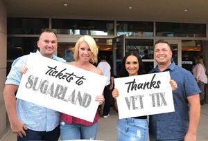 Brian & Melissa and Friends! attended Sugarland on May 31st 2018 via VetTix