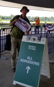 Chris attended The 150th Belmont Stakes on Jun 9th 2018 via VetTix