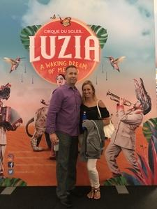 Shane attended Cirque Du Soleil Performs Luzia on May 22nd 2018 via VetTix