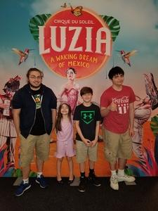 Christopher attended Cirque Du Soleil Performs Luzia on May 22nd 2018 via VetTix