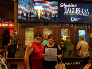 Raymond attended American Eagles USA (Tribute to The Eagles) - 18+ Show on Jun 22nd 2018 via VetTix