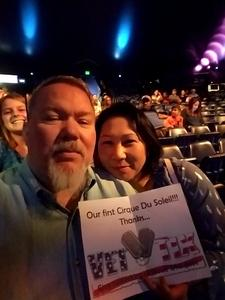 Miko attended Luzia by Cirque Du Soleil on May 25th 2018 via VetTix