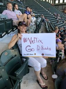 Amy attended Arizona Diamondbacks vs. Miami Marlins - MLB on Jun 1st 2018 via VetTix