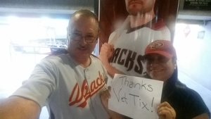 Paul V Alexander SMSgt USAF Retired attended Arizona Diamondbacks vs. Miami Marlins - MLB on Jun 1st 2018 via VetTix
