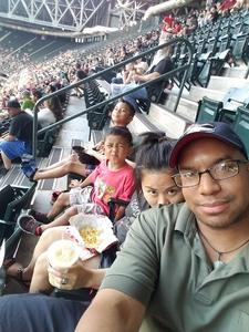 Tyrone attended Arizona Diamondbacks vs. Miami Marlins - MLB on Jun 1st 2018 via VetTix