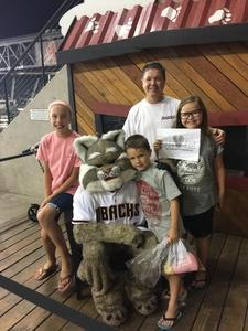 Glenn attended Arizona Diamondbacks vs. Miami Marlins - MLB on Jun 1st 2018 via VetTix