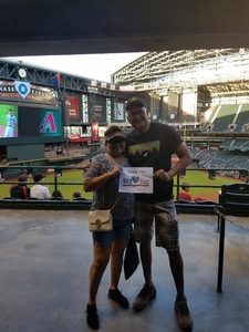 Vincent attended Arizona Diamondbacks vs. Miami Marlins - MLB on Jun 1st 2018 via VetTix