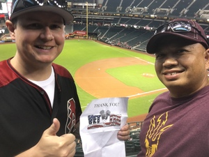 Weston attended Arizona Diamondbacks vs. Miami Marlins - MLB on Jun 2nd 2018 via VetTix