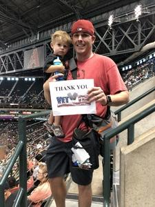 Aaron attended Arizona Diamondbacks vs. Miami Marlins - MLB on Jun 3rd 2018 via VetTix