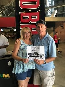 Robert attended Arizona Diamondbacks vs. Miami Marlins - MLB on Jun 3rd 2018 via VetTix