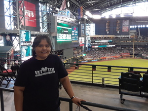 Kaisa attended Arizona Diamondbacks vs. Miami Marlins - MLB on Jun 3rd 2018 via VetTix