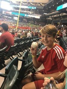 James attended Arizona Diamondbacks vs. Pittsburgh Pirates on Jun 13th 2018 via VetTix