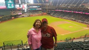 Manuel attended Arizona Diamondbacks vs. Pittsburgh Pirates on Jun 13th 2018 via VetTix