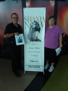 James attended Shania Twain: Now on Jun 12th 2018 via VetTix