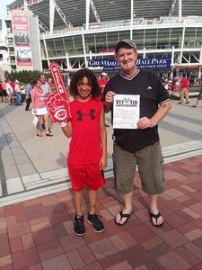 Phillip attended Cincinnati Reds vs. St. Louis Cardinals - MLB on Jun 8th 2018 via VetTix