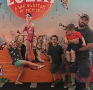 Bixler Family attended LUZIA LUZIA by Cirque du Soleil on May 26th 2018 via VetTix