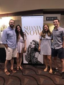 Matt attended Shania Twain - Live in Concert on Jun 4th 2018 via VetTix