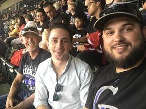 Josh attended Colorado Rockies vs. Arizona Diamondbacks - MLB on Jun 8th 2018 via VetTix
