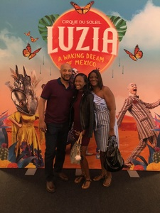 Rose attended Luzia by Cirque Du Soleil - 8pm Show on Jun 2nd 2018 via VetTix
