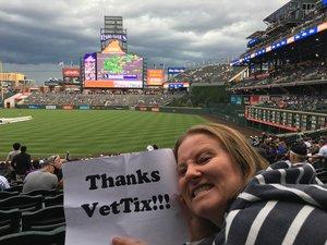 Jennifer attended Colorado Rockies vs. Miami Marlins - MLB - Sunday on Jun 24th 2018 via VetTix